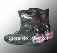 Wholesale New Men Sport bike Motorcycle Motor waterproof high fiber Leather Boots boot For Honda Yamaha Kawasaki Harley Suzuki order lt no track