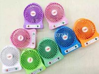 Wholesale F95B Portable Mini USB Fan Rechargeable Battery Operated w LED Lamp for Indoor Outdoor Kids Table Mini Fan
