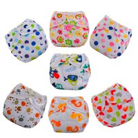 Wholesale Hot Selling Printed Baby Reusable Nappies Leakproof Baby Cloth Diapers Animal Design Washable Baby Training Pants