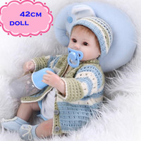 Cheap 2016 Latest Simulation Silicone Reborn Baby Dolls About 42cm Lifelike Hot Sale Baby Dolls Newborn For Children' s Best Partner