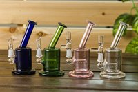 Wholesale 5 quot Mini Bubbler Glass Ash Catcher Inline Percolator Water Pipe Oil Rig Bong Best Quality MM Joint WP027
