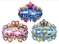 aluminium canopy - 90 cm big size Canopy Birthday Foil Balloons Happy birthday from ALL of us foil balloon kids toys happy birthday decoration