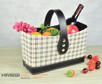 fruit gift baskets - Check grade leather gift baskets fruit baskets gift baskets advanced portable storage baskets
