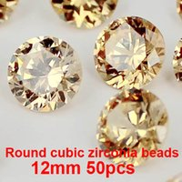 Wholesale 50pcs mm Many Colors To Choose Crystal Material Round Brilliant cuts Cubic Zirconia Beads Stones Perfect For Jewelry Diy