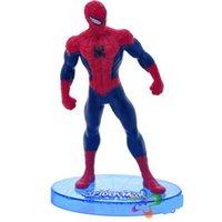 amazing stuff - Stuffed Amazing spiderman doll cartoon action figure classic squatting spiderman plush toy baby toy Set style
