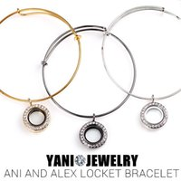 Wholesale Colors MM Magnetic Glass Floating Locket Alex And Ani Expandable Wiring Bracelet Bangles