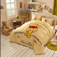 Wholesale Yellow Winnie Pooh Classic Bedding In The Grass Winnie Pooh Bed In A Bag Bedding Sets Baby