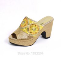 Cheap Reasonable price High heel shoes perfect matching with handbag1308-37-1 gold,Nice Italian lady shoes and bag sets for party