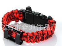 aids bracelets - new arrivel survival paracord parachute cord bracelet with logo AIDS whole sale
