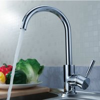 Wholesale Freeshipping New arrival copper hot and cold kitchen sink mixer tap brass faucet LH