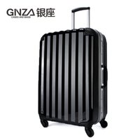 Wholesale High end business suitcase luggage trolley case glossy red aluminum frame inch Wheels A suitcase