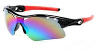 al por mayor la entrega de la bicicleta-Las gafas de sol del radarlock de las mujeres de los nuevos hombres del color ennegrecen la entrega bicycling 9color del epacket de las gafas de sol de los anteojos de los gafas de sol del deporte del marco.