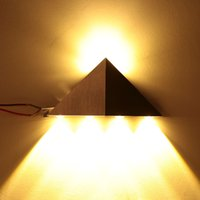 Wholesale Home Decoration Lighting W LED Wall Lamps V Modern Triangular Aluminum LED Wall Light Lamp Indoor Bedroom Hallway Kitchen