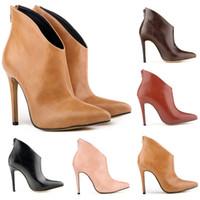 Wholesale 2015 New autumn winter high grade PU pointed high fashion Women s boots High heeled women s boots