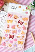Wholesale Korean Style YEEHYUN Perspective Felt Applique Butterfly Decoration Diary