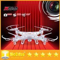 Wholesale New English Package RC Helicopter SYMA X5C Upgrade Version X5C Quadcopter GHz CH Axis Gyro GB TF Card with MP HD camera