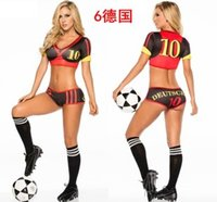 cheerleading uniforms - 2015 New style multicolor World Cup bikini cheerleading uniform football baby costumes DS dance gymnastics Football Sexy Costumes