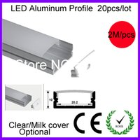 aluminium ceiling strips - aluminum LED profile with clear milk lenses diffuser for ceiling led aluminium slot for Double row led strip