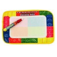 Wholesale 2015 Hot Brain game Kids Drawing Magic Water Mat colorful Aqua Doodle Mat with Magic Pen
