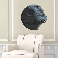 3d movies for sale - Hot Sale Death Star Artwork Wall Decal Removable Classic Star War D Wall Sticker Home Decor Art Poster Boy Room Decor Gift DH