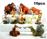 Wholesale Ice Age Manny Ellie Diego Sid Scrat set PVC Action Figures Toys Dolls