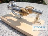 Wholesale S02004 Single Flywheel with Pulley Hot Air Stirling Engine Model Generator flywheel fan flywheel generator