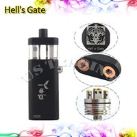 vapor mods - 2015 Hell s Gate Mod E Cigarette Machanical Mods Hells Gate Mod Vapor Box Suit for Battery Yep RDA Atomizer Black Silver Color