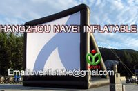 Wholesale New x4m giant inflatable movie screen inflatable projection movie screen inflatable film screen