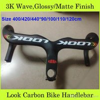 Wholesale Look Road Bike Integrated Drop Handlebar With Size Bars And Stems Outdoor Pro Cycling Parts Bicycle Handle Bar
