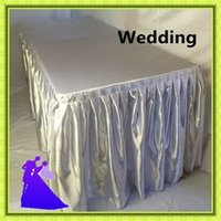 banquet table skirts wholesale - Hot sale nice quality Polyester retangle Table Skirt for banquet
