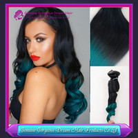 Cheap ombre green hair extensions Best ombre human hair weft