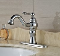 base basin mixer - Chrome Finished Bathroom Basin Faucet Mixer Tap With Base Plate Deck Mounted