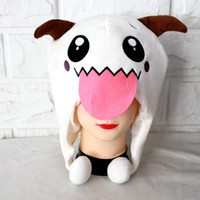 Wholesale New LOL League Of Legends Poro Beanie Plush Hat Poro Cap Cosplay Hat Cute High Quality