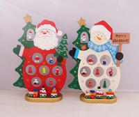 Wholesale Creative Wooden Santa Christmas Decoration Snowman Ornament Santa Claus Crafts Christmas Tree Ornaments For Xmas Gift