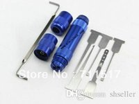 Wholesale sets Civil locksmiths tools LED lamp white light DOOR LOCK OPENER LOCK PICK GUN A2