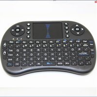 Wholesale Rii i8 Keyboard Air Mouse Remote Control Touchpad Handheld for TV BOX PC Laptop Tablet Raspberry PI Controller with lithium Battery Included