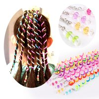 Wholesale 2016 POPULAR Fashion children hair spiral ornaments girl Polymer clay hair spiral jewelry color set RETAIL