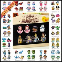 Wholesale 1000pcs Refrigerator Blackboard Magnetic Sticker Fridge Magnet Avengers Despicable Me Pink pig Hello Kitty Super Mario Mickey Batman Frozen