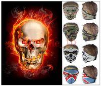 Wholesale New Ghost mask Skull Multi Bandana Bike Motorcycle Scarves Face Mask intball CS Ski Sport mask LJJH1045