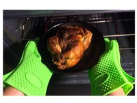 Wholesale Silicone Kitchen Heat Resistant Grilling BBQ Gloves for Cooking Baking Smoking Potholder