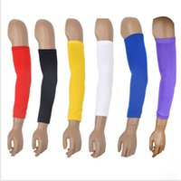Wholesale High Elastic Elbow Supports Braces Lengthen Armband Elbow Pads Protector Basketball Gym Arm Guard Soft Sleeve Shooting T008