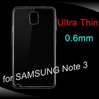 Cheap Cell Phone Cases For SAMSUNG Galaxy Note 3 N9006 Ultra Thin 0.6mm TPU Cover Crystal Transparent Soft Cases