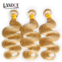 Grado 7A Bleach 613 Rubio Color del pelo Extensiones del pelo de Malasia onda del cuerpo de las tramas del pelo humano malasio de la armadura de Bundles libre de enredos se puede teñir