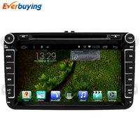 Wholesale 8 inch Car DVD GPS Navigation Radio Audio Android Quad Core For VW GOLF Polo Bora CC JETTA PASSAT Tiguan SKODA