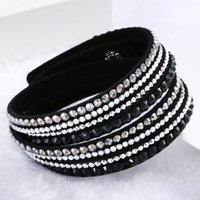 crystal jewelry box - 2016 New Fashion multilayer Wrap Bracelets Slake Deluxe Leather Bracelets for women With Crystals Couple Jewelry Charm Bracelets