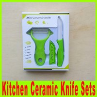 Wholesale Top quality inch ceramic Peeler ceramic Knife Paring Fruit Utility Kitchen ceramic Knife Sets Four colors available A473X