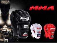 ufc gloves - Hottest JDUANL MMA Kick Boxing Gloves UFC Combat Half Mittens Protective Fight Gloves Environmental Waterproof GPU Fingerless Gloves