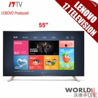 plasma tv - 2015 Brand Original quot TV S9i TV Lenovo Produced Alibaba YunOS BOSSA NOVA Design K Intelligent Smart D LCD Flat Panel TVs