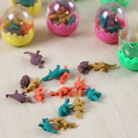 Wholesale Kawaii Korean Stationery Stationary Dinosaur Egg Set Novelty Pencil Eraser Erase Students Office Stationery Gift Toy
