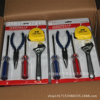 Wholesale 2016 Time limited Hot Sale Five Folding Ladder Diamond Glass Cutter Manufacturers Household Kit Manual Tools Sets of Combination Tool Set